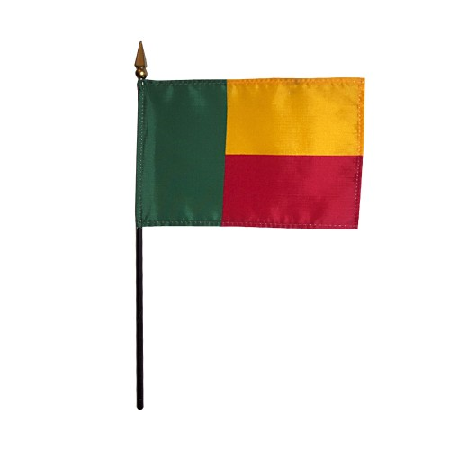 Benin Miniature Desk Flag, 4 X 6