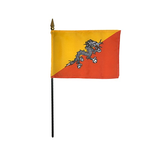 Bhutan Miniature Desk Flag, 4 X 6