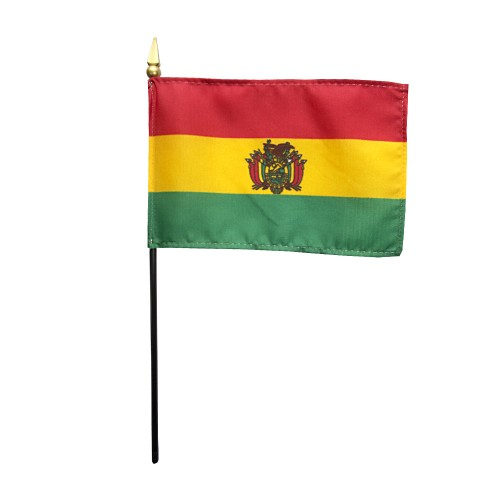 Bolivia (Govt) Miniature Desk Flag, 4 X 6
