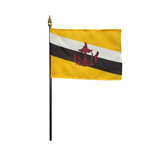 Brunei Miniature Desk Flag, 4 X 6