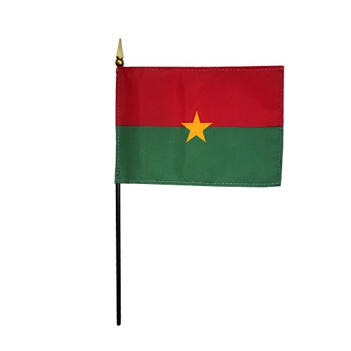 Burkina Faso Miniature Desk Flag, 4 X 6