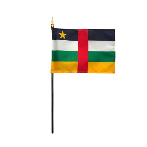 Central African Rep Miniature Desk Flag, 4 X 6