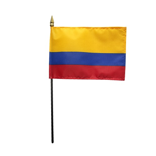 Colombia Miniature Desk Flag, 4 X 6