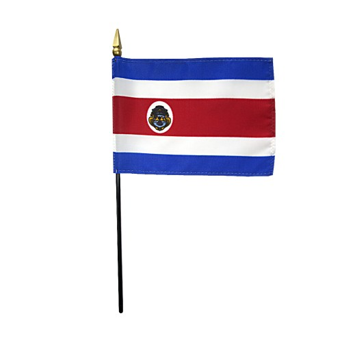 Costa Rica (Govt) Miniature Desk Flag, 4 X 6