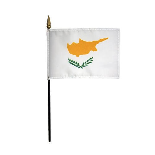 Cyprus Miniature Desk Flag, 4 X 6