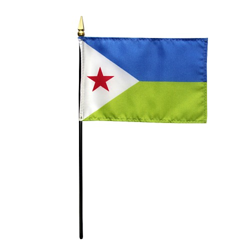 Djibouti Miniature Desk Flag, 4 X 6