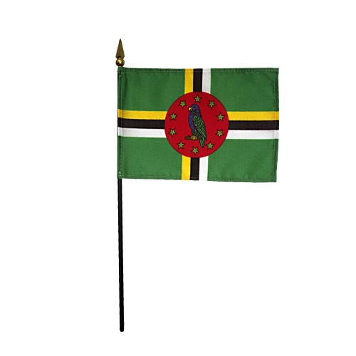 Dominica Miniature Desk Flag, 4 X 6