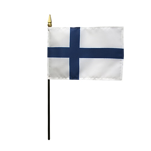 Finland Miniature Desk Flag, 4 X 6