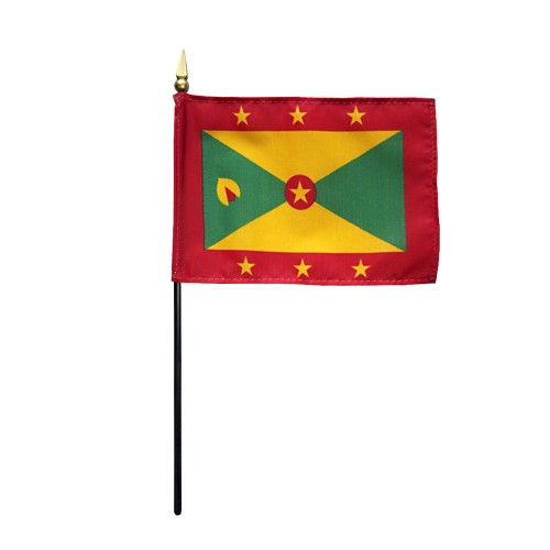 Grenada Miniature Desk Flag, 4 X 6