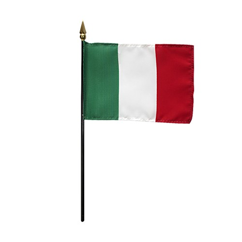 Italy Miniature Desk Flag, 4 X 6
