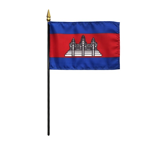 Cambodia Miniature Desk Flag, 4 X 6