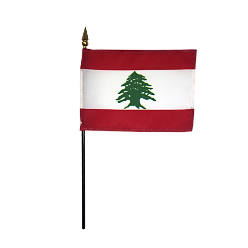 Lebanon Miniature Desk Flag, 4 X 6
