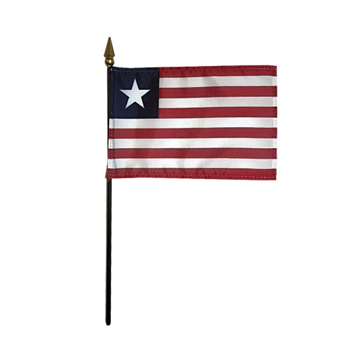 Liberia Miniature Desk Flag, 4 X 6