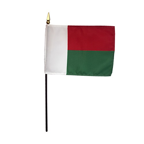 Madagascar Miniature Desk Flag, 4 X 6
