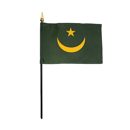 Mauritania Miniature Desk Flag, 4 X 6