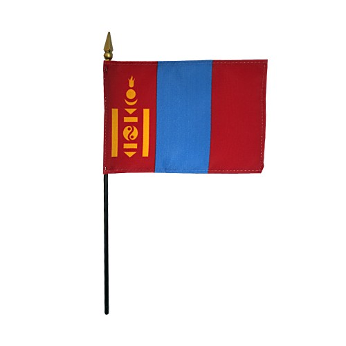 Mongolia Miniature Desk Flag, 4 X 6