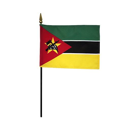 Mozambique Miniature Desk Flag, 4 X 6