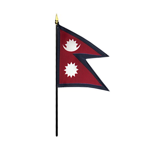 Nepal Miniature Desk Flag, 4 X 6
