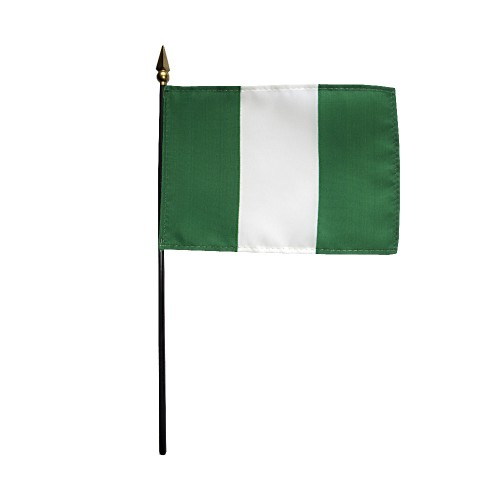 Nigeria Miniature Desk Flag, 4 X 6