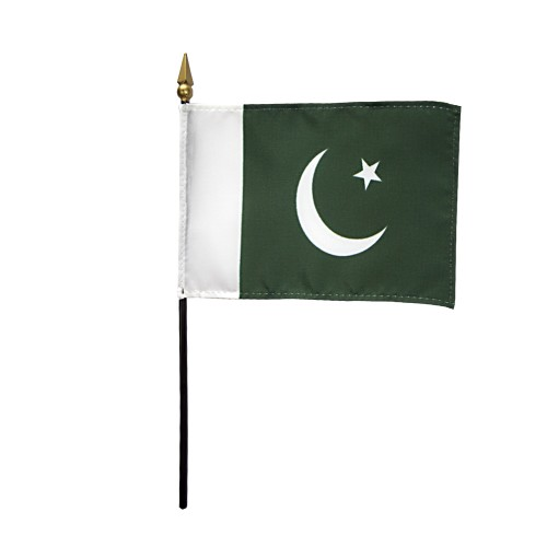 Pakistan Miniature Desk Flag, 4 X 6