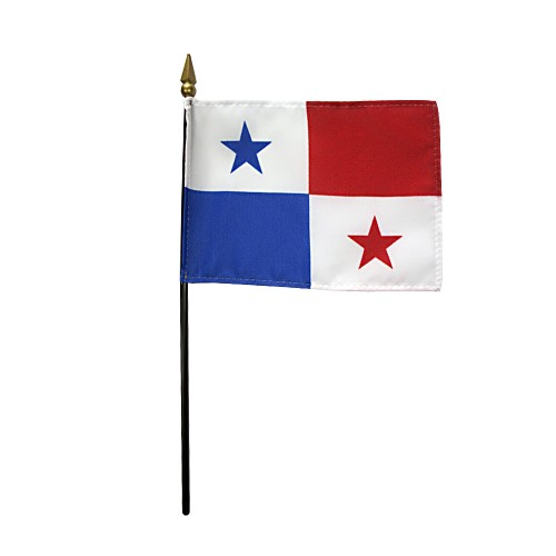 Panama Miniature Desk Flag, 4 X 6