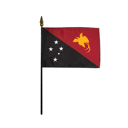 Papua New Guinea Miniature Desk Flag, 4 X 6