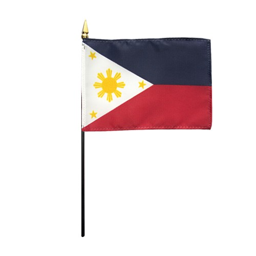 Philippines Miniature Desk Flag, 4 X 6