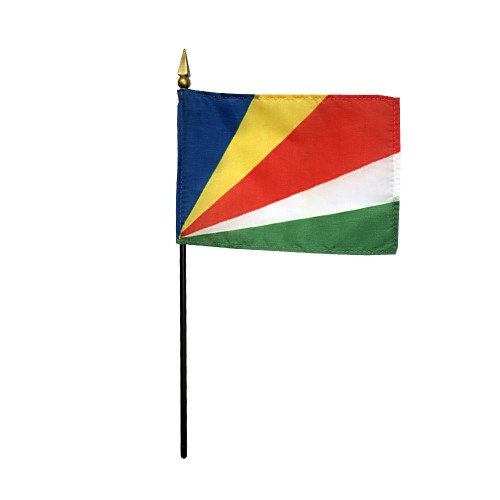 Seychelles Miniature Desk Flag, 4 X 6