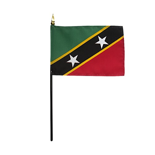 St. Kitts & Nevis Miniature Desk Flag, 4 X 6
