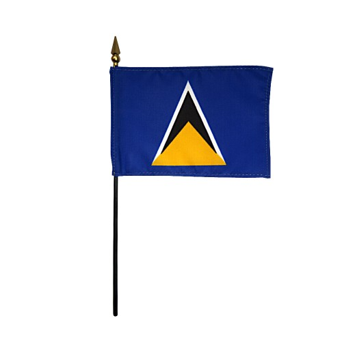 St. Lucia Miniature Desk Flag, 4 X 6