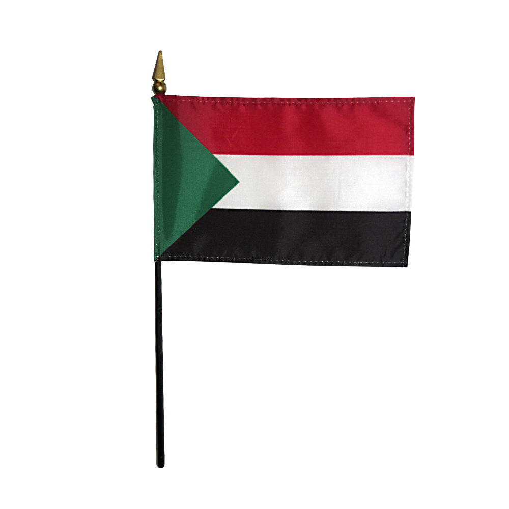 Sudan Miniature Desk Flag, 4 X 6