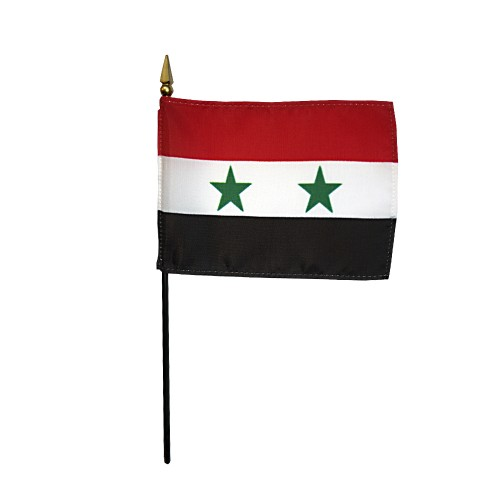 Syria Miniature Desk Flag, 4 X 6