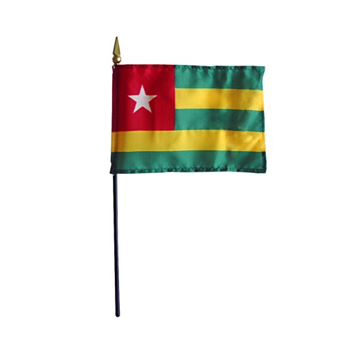 Togo Miniature Desk Flag, 4 X 6
