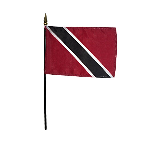 Trinidad & Tobago Miniature Desk Flag, 4 X 6
