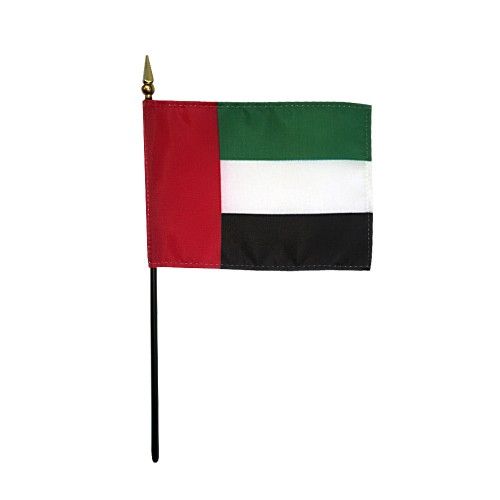 United Arab Emirates UAE Miniature Desk Flag, 4 X 6
