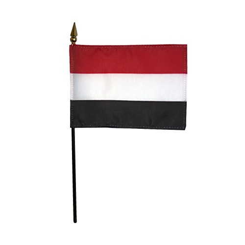 Yemen Miniature Desk Flag, 4 X 6