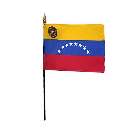 Venezuela (Govt) Miniature Desk Flag, 4 X 6
