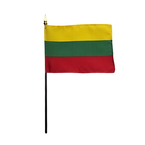 Lithuania Miniature Desk Flag, 4 X 6