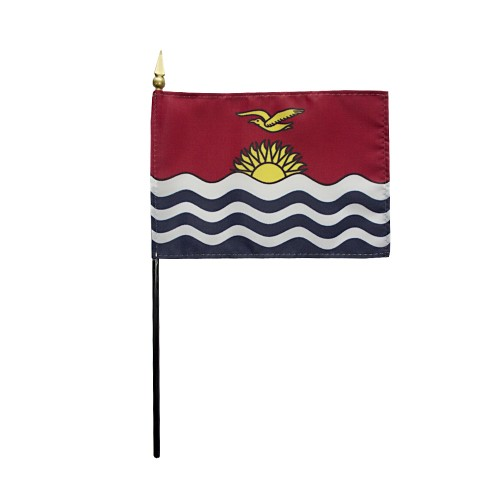 Kiribati Miniature Desk Flag, 4 X 6