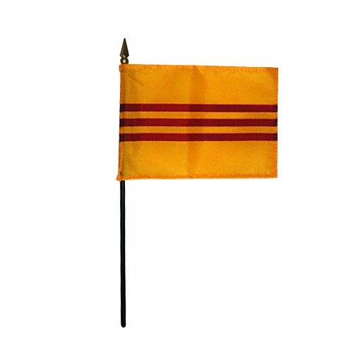 South Vietnam (1948-75) Miniature Desk Flag, 4 X 6