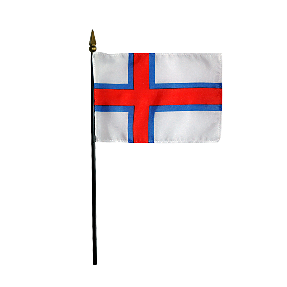 Faroe Islands Denmark Miniature Desk Flag, 4 X 6