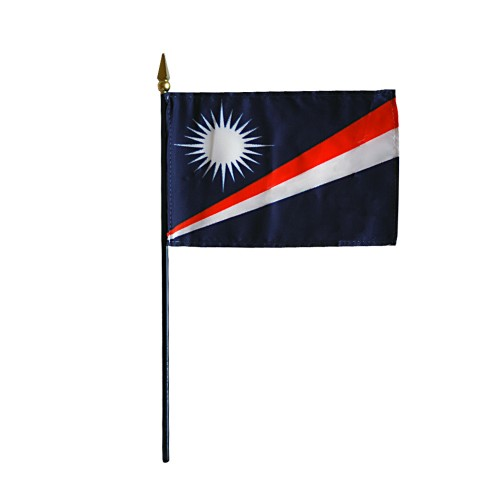 Marshall Islands Miniature Desk Flag, 4 X 6