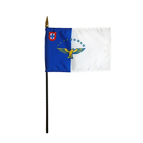 Azores Miniature Desk Flag, 4 X 6