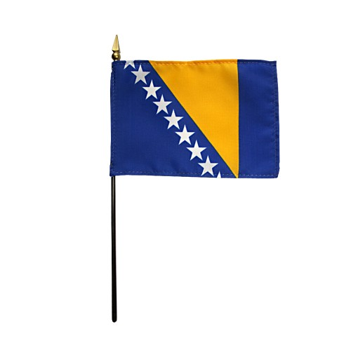 Bosnia Herzegovina Miniature Desk Flag, 4 X 6