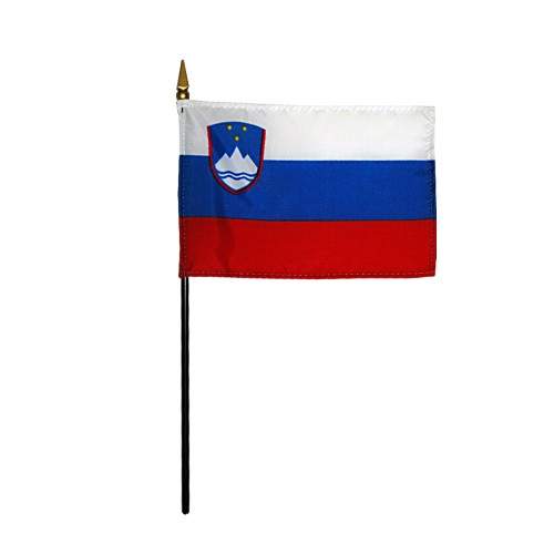 Slovenia Miniature Desk Flag, 4 X 6