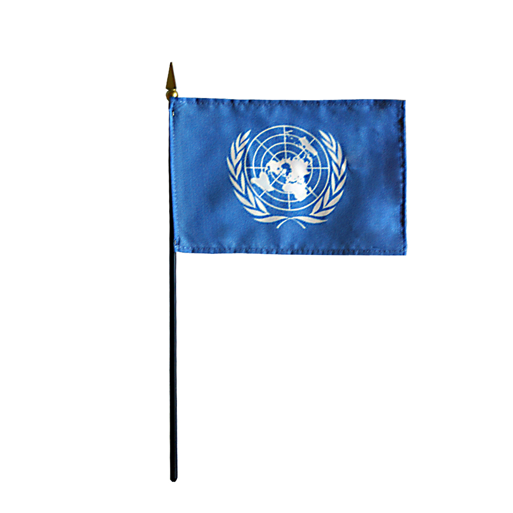 United Nations UN Miniature Desk Flag, 4 X 6