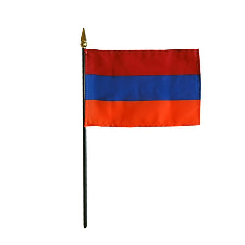 Armenia Miniature Desk Flag, 4 X 6