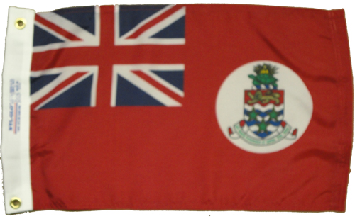 Cayman Islands Red Nylon Flag, 12 X 18