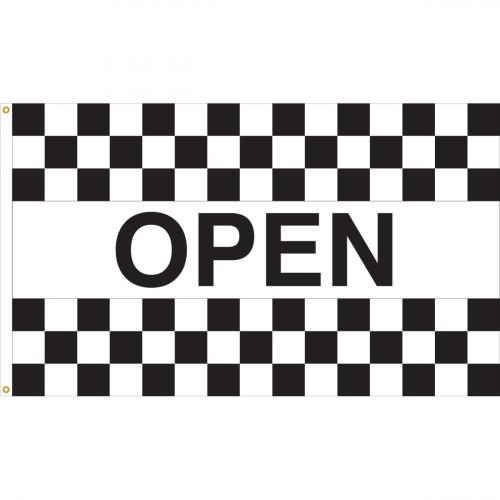 Open Racing Checkered Nylon Message Flag
