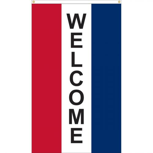Welcome Nylon Message Flag